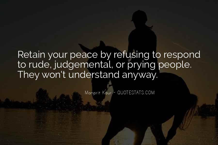 Quotes About Judgemental People #344129