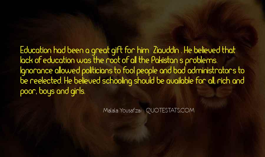 Quotes About Poor Education #642617
