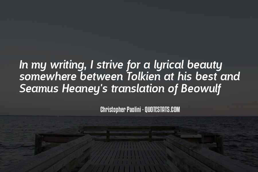 Quotes About Beowulf #1585099