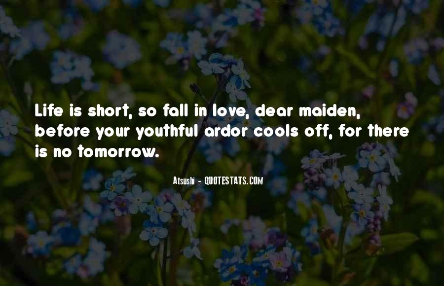 Quotes About Youthful Love #1496795