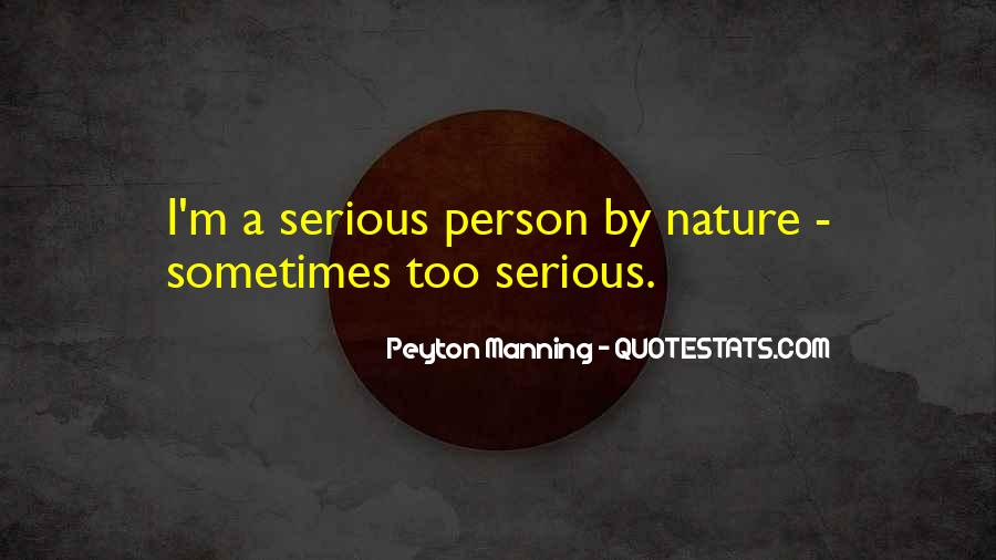 Quotes About Serious Person #118451