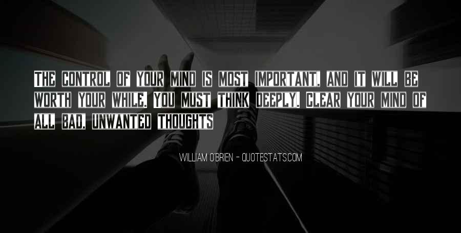 Quotes About Control Of The Mind #18606