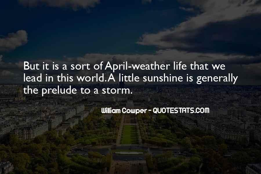 Quotes About April Weather #873481