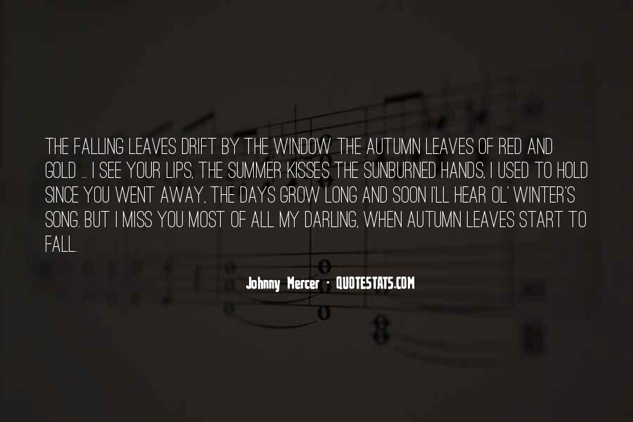 Quotes About Autumn Leaves Falling #1395888