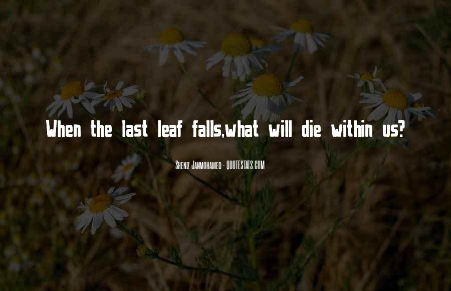 Quotes About Autumn Leaves Falling #74030