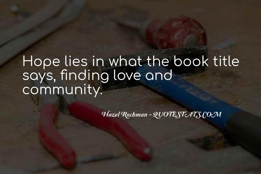 Quotes About Hope For Finding Love #1689126