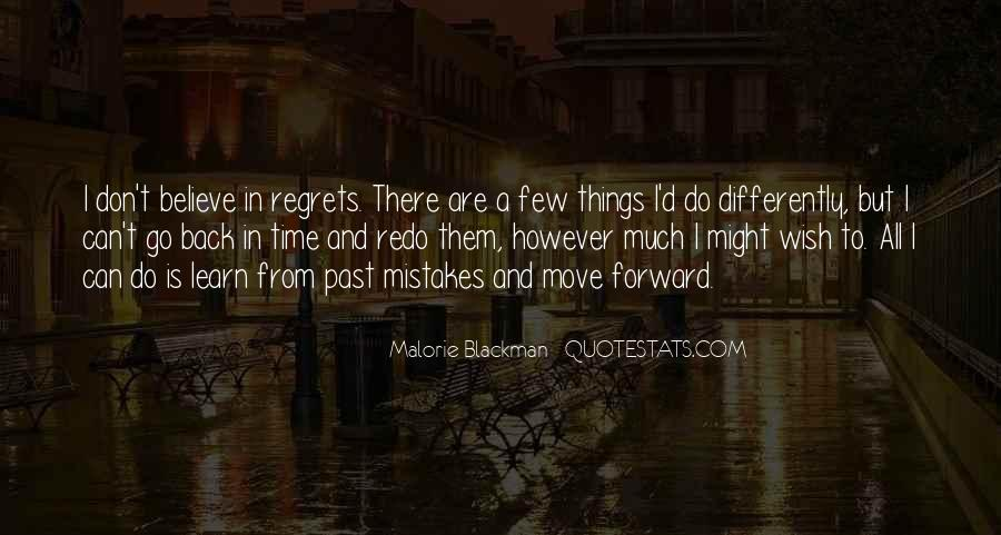 Quotes About Mistakes But No Regrets #1122928