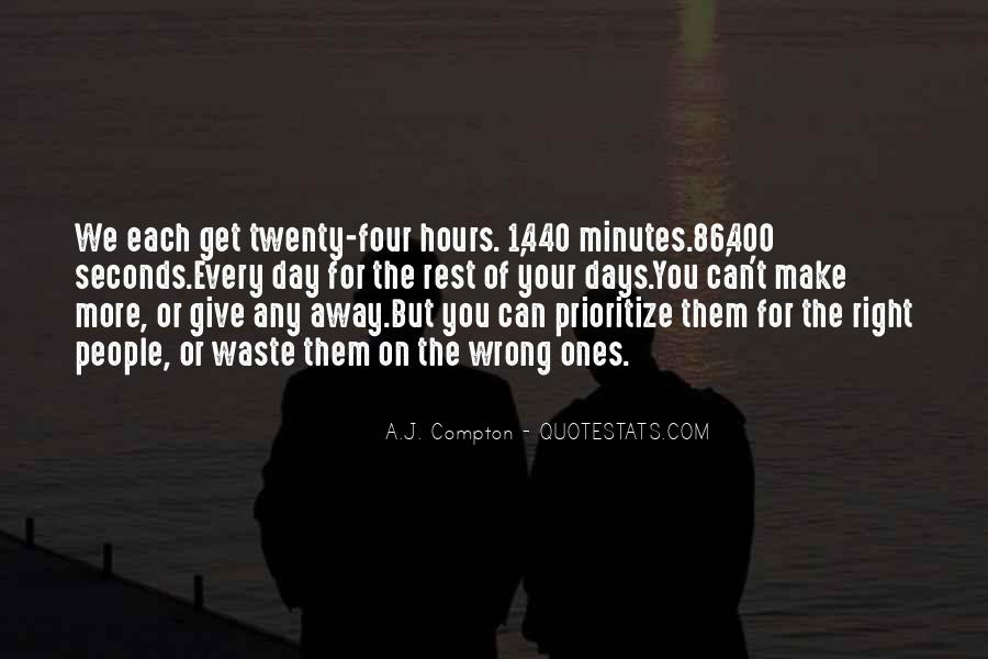 Quotes About Seconds In A Day #715603
