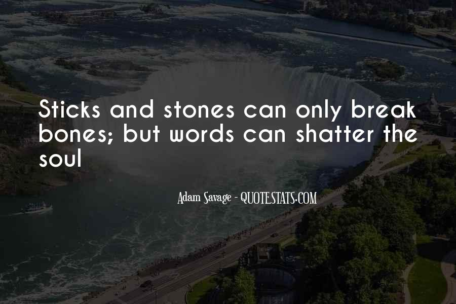 Quotes About Sticks And Stones #1113194