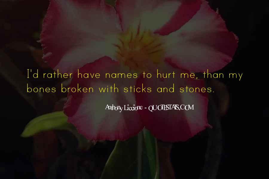 Quotes About Sticks And Stones #1210081