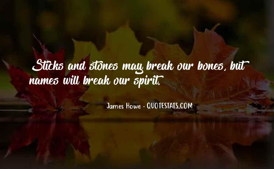 Quotes About Sticks And Stones #12294