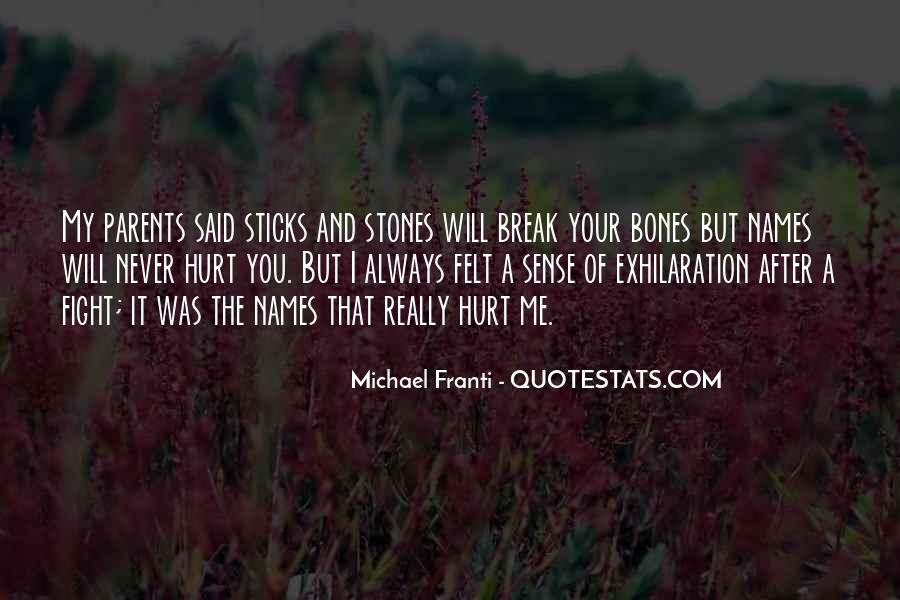 Quotes About Sticks And Stones #157326