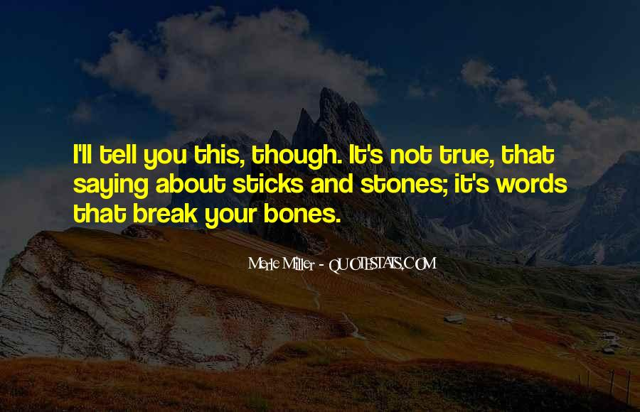 Quotes About Sticks And Stones #179347