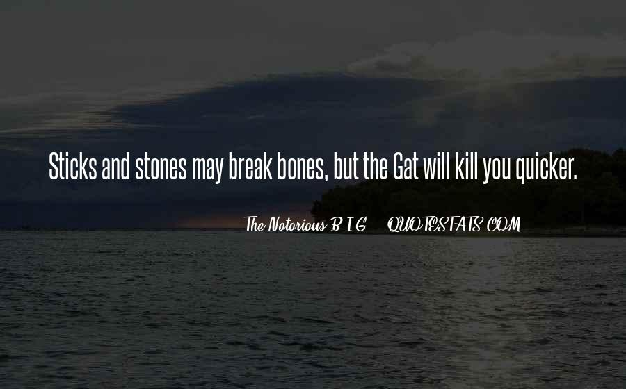Quotes About Sticks And Stones #273948