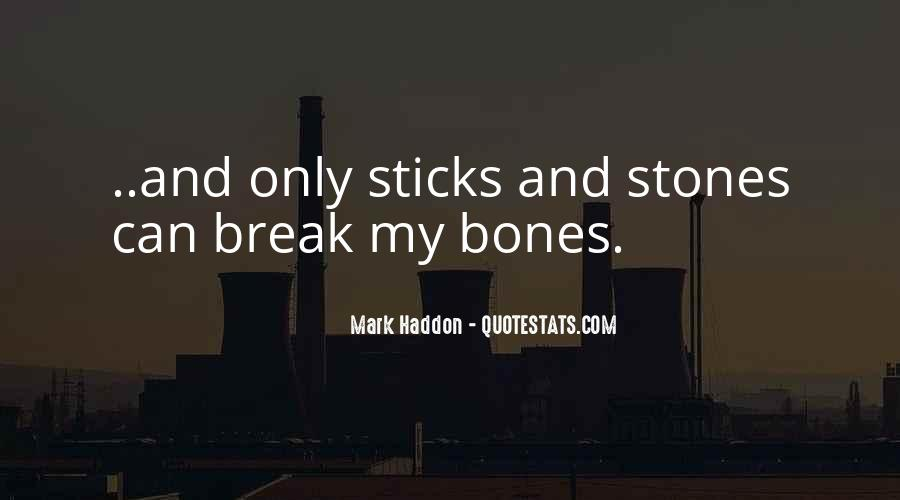 Quotes About Sticks And Stones #441616