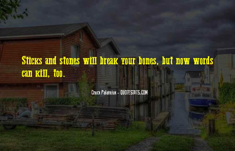 Quotes About Sticks And Stones #529363