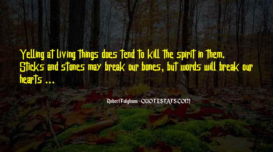 Quotes About Sticks And Stones #849453