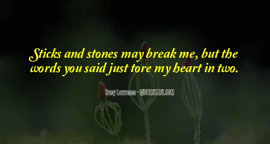 Quotes About Sticks And Stones #901931