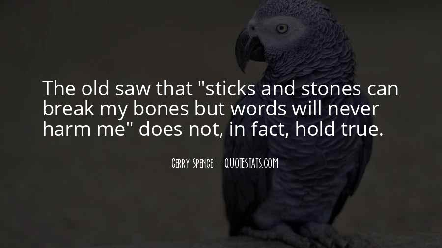 Quotes About Sticks And Stones #919242