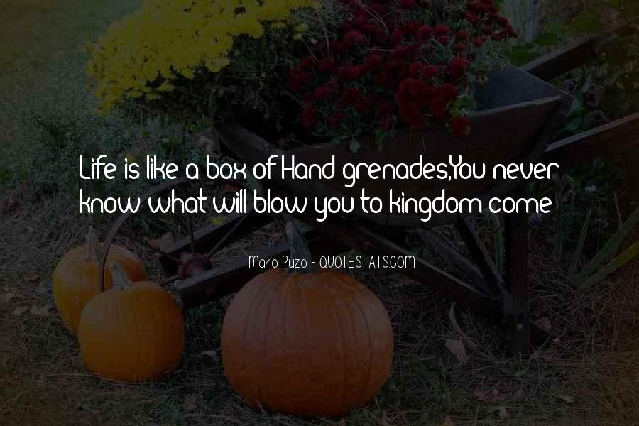 Quotes About Grenades #1834582