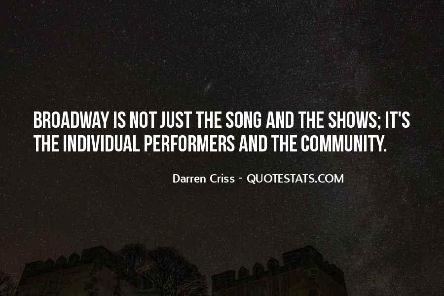 Quotes About Broadway Shows #1760316