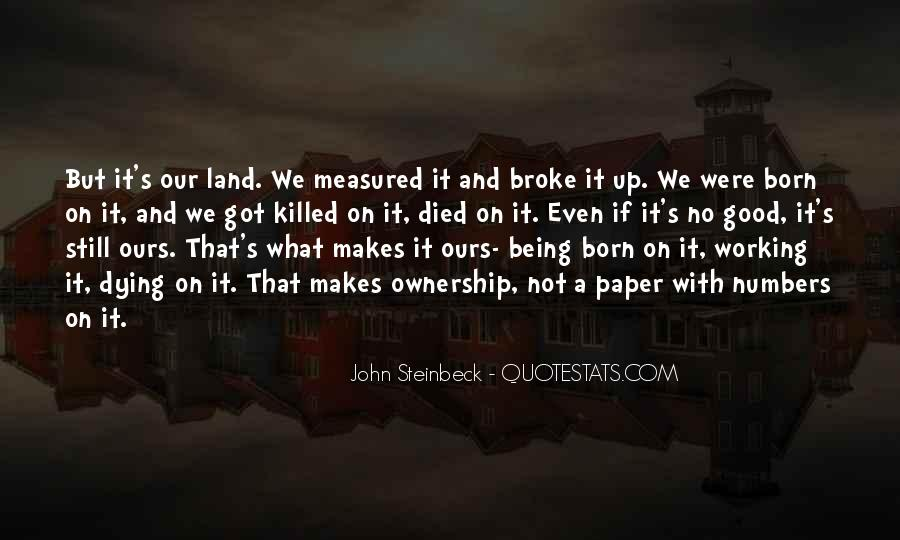 Quotes About Ownership Of Land #40551