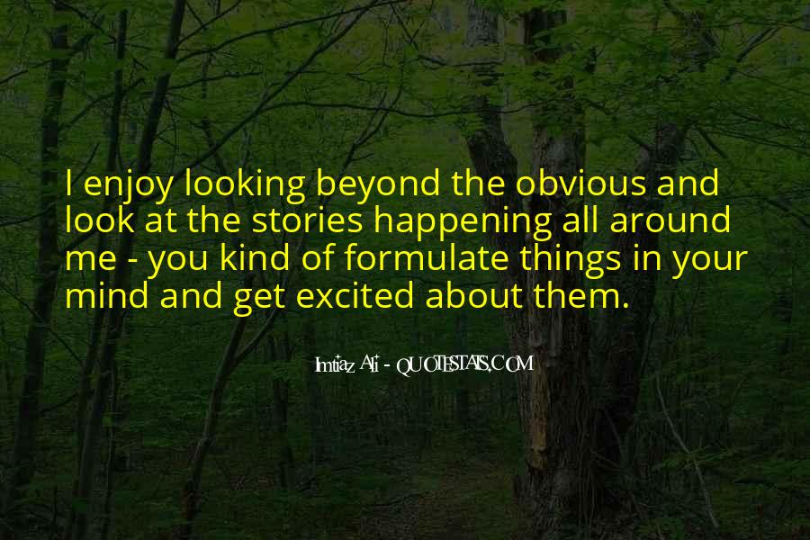 Quotes About Obvious Things #22423