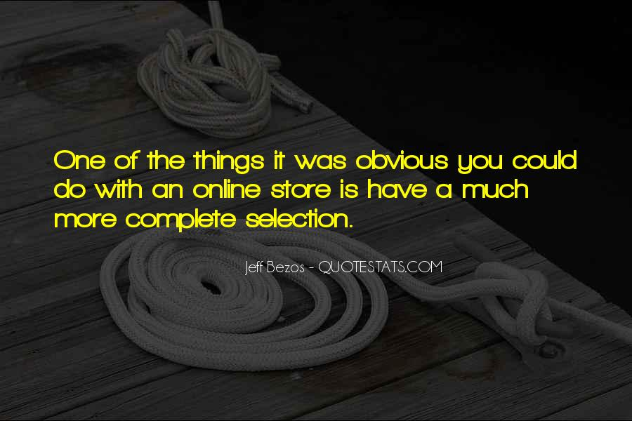 Quotes About Obvious Things #96601