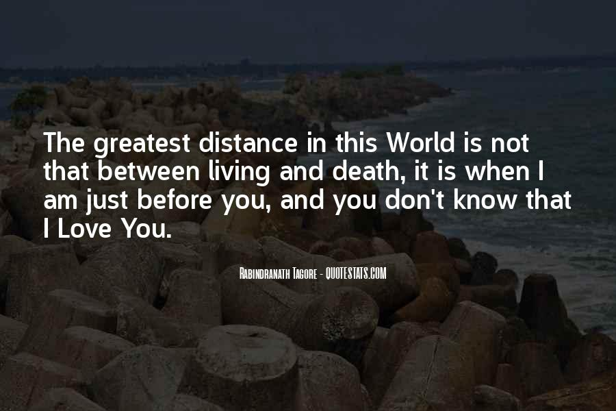 Quotes About Distance And Love #173925