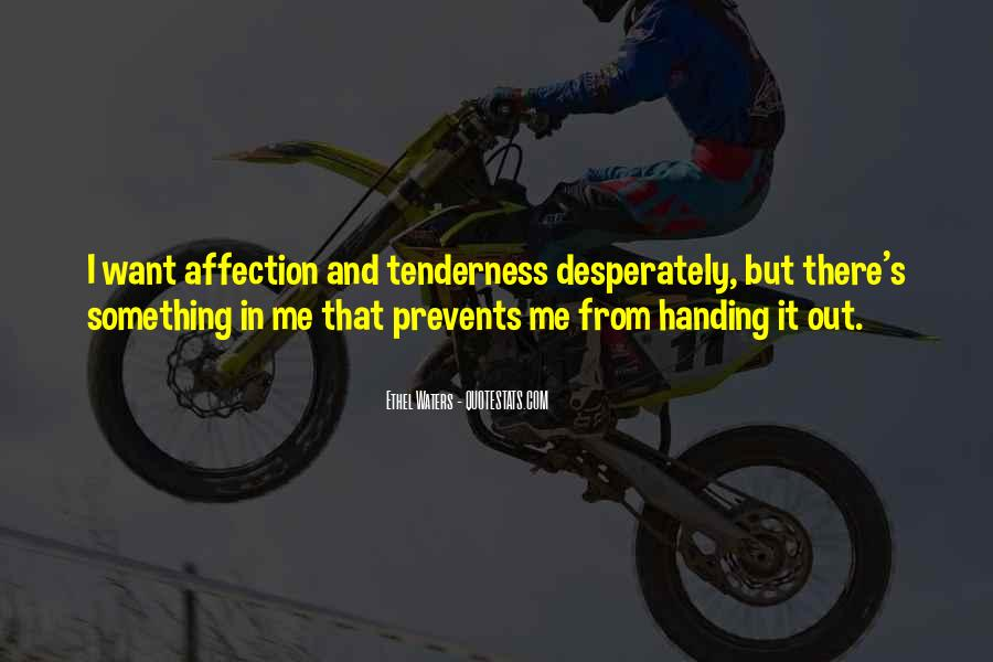 Quotes About Affection Tenderness #724961