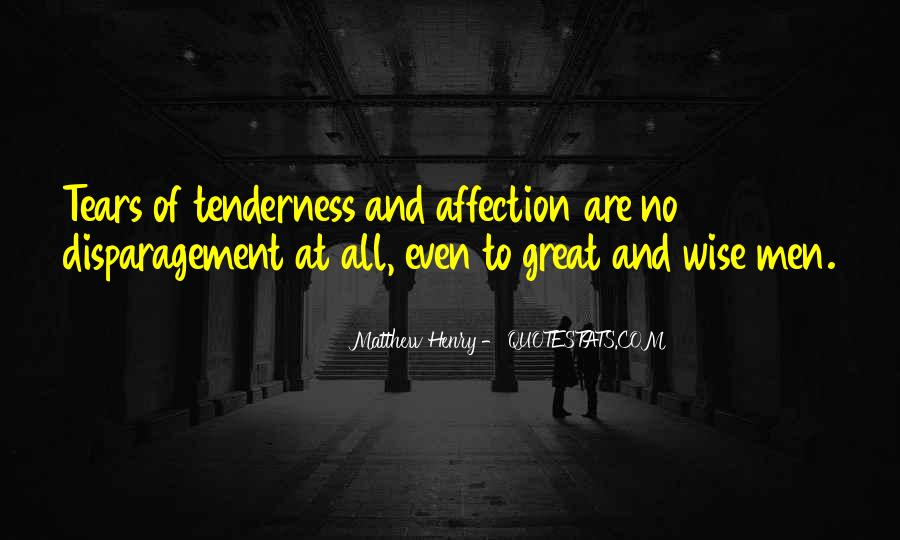 Quotes About Affection Tenderness #88301