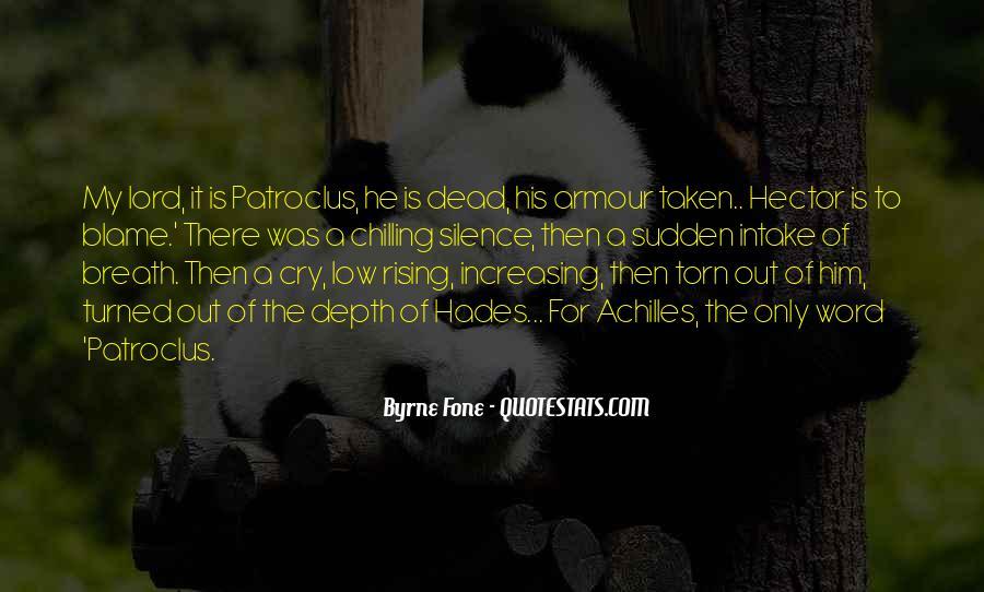 Quotes About Patroclus #70957