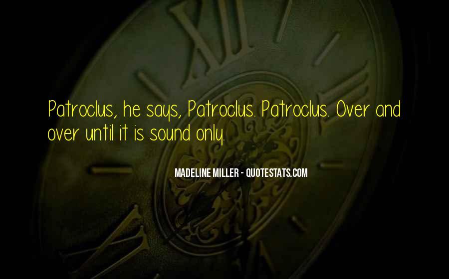 Quotes About Patroclus #927131