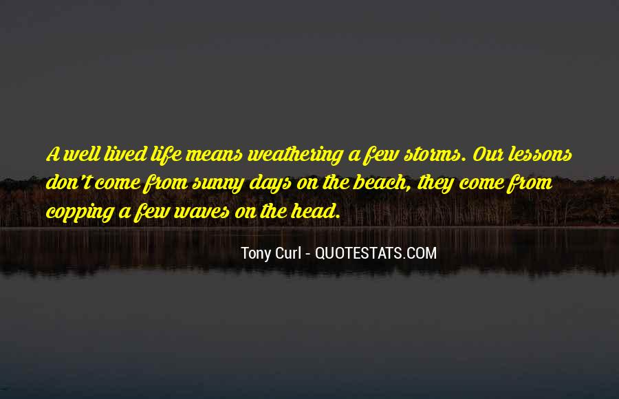 Quotes About Storms On The Beach #1189882