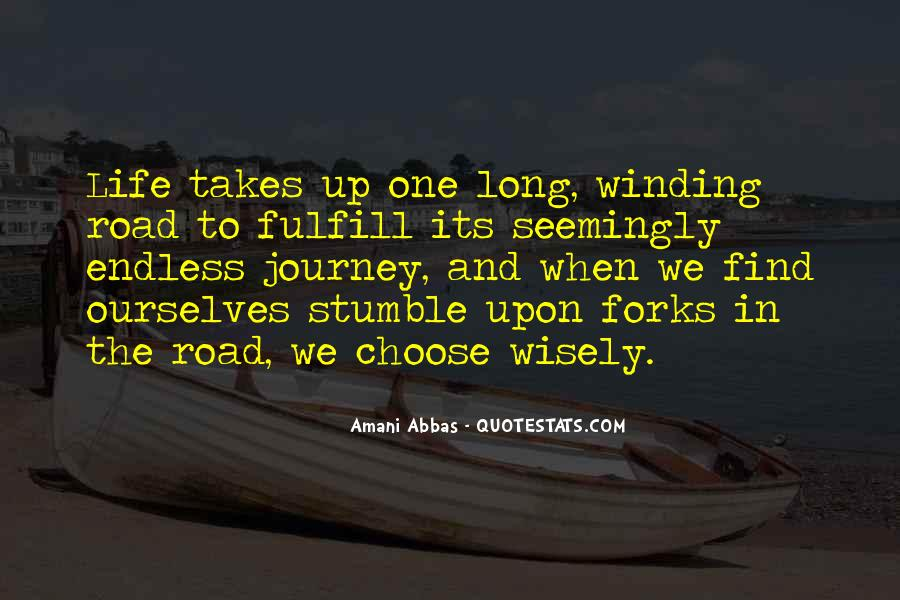 Quotes About The Winding Road #1001971
