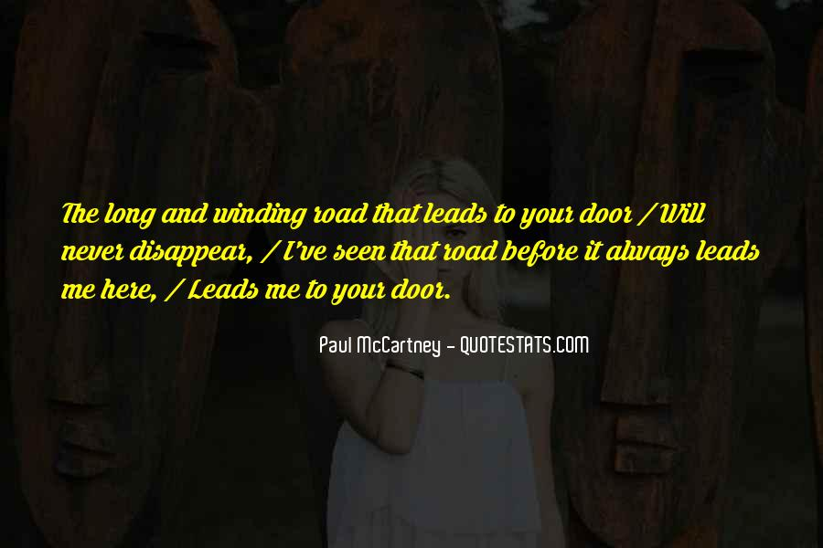 Quotes About The Winding Road #640061