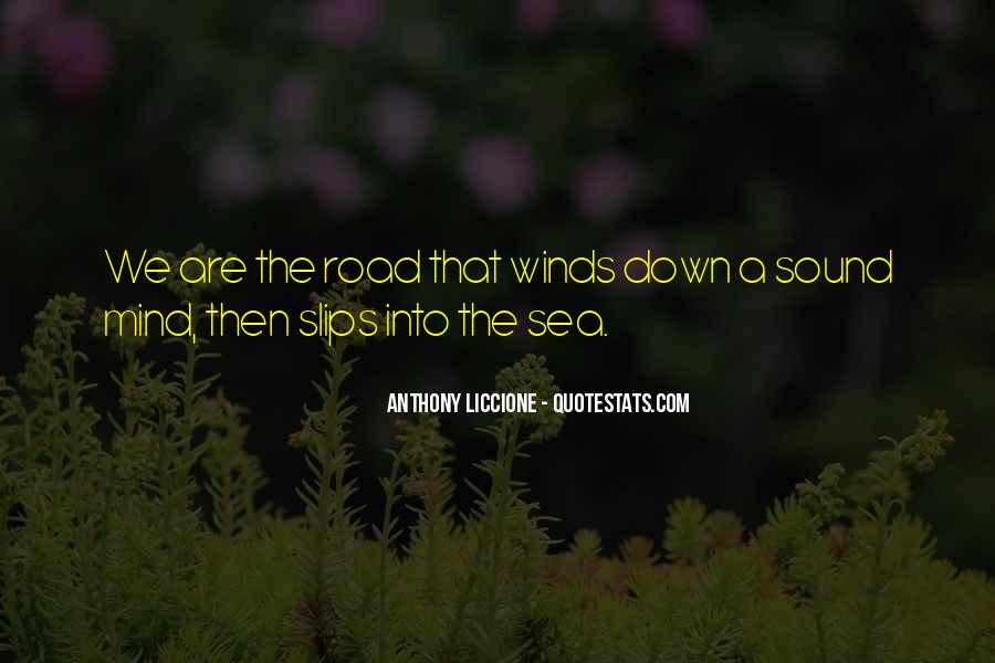 Quotes About The Winding Road #684289