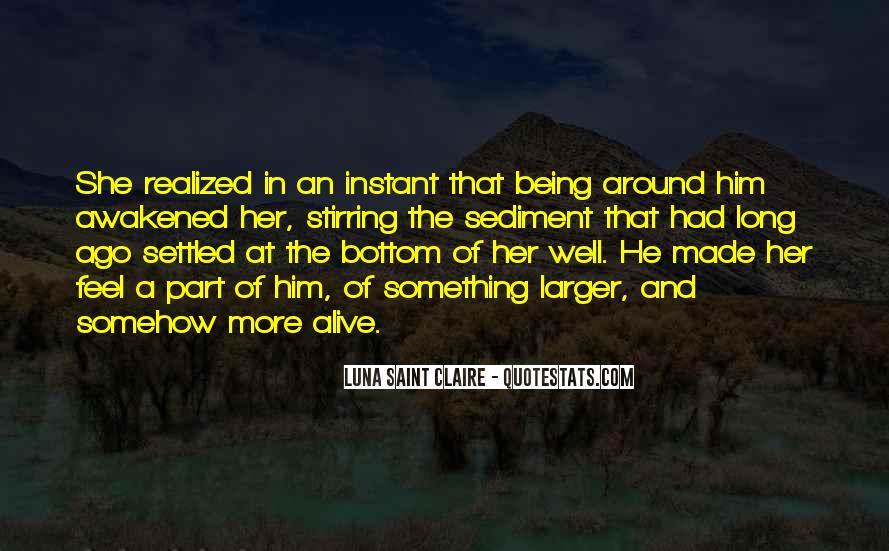 Quotes About Sediment #623188