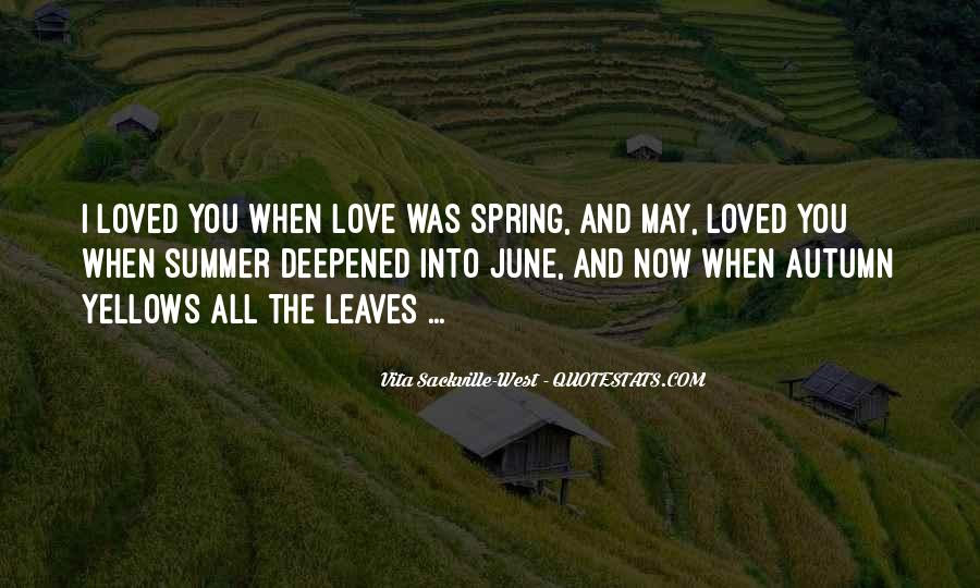 Quotes About Spring And Summer #78943