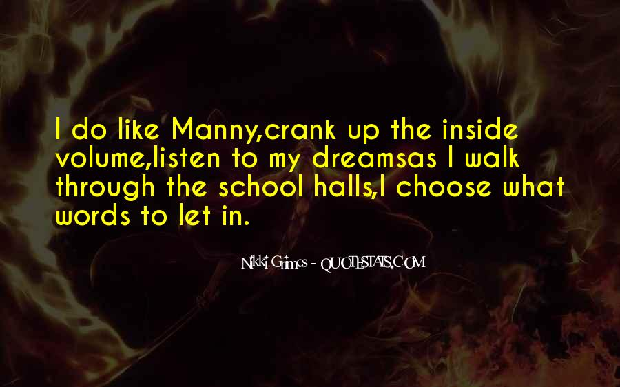 Quotes About School Halls #590328