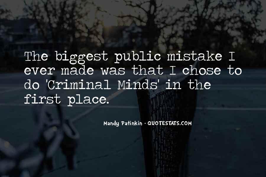 Quotes About Criminal Minds #1707249