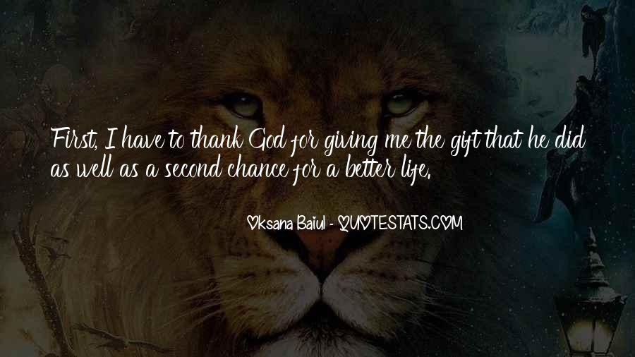 Quotes About God Giving You A Second Chance #144074