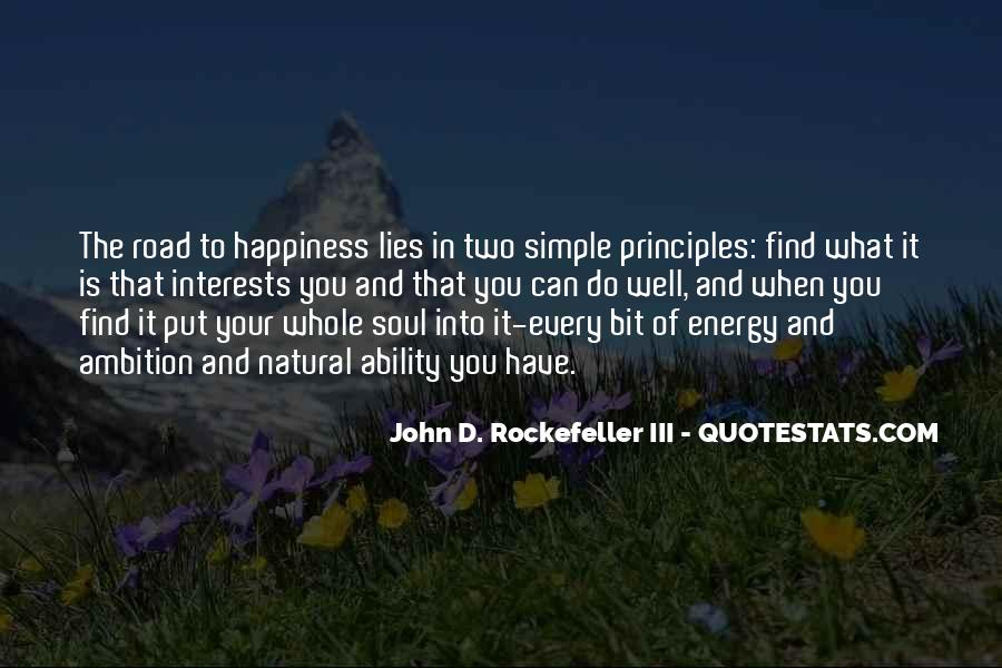 Quotes About Rockefeller #452088