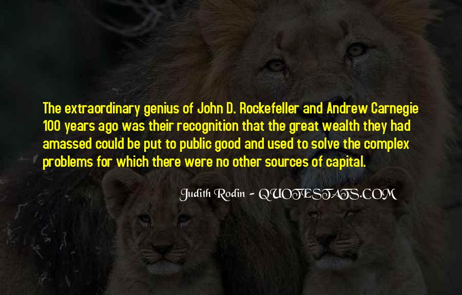 Quotes About Rockefeller #514377
