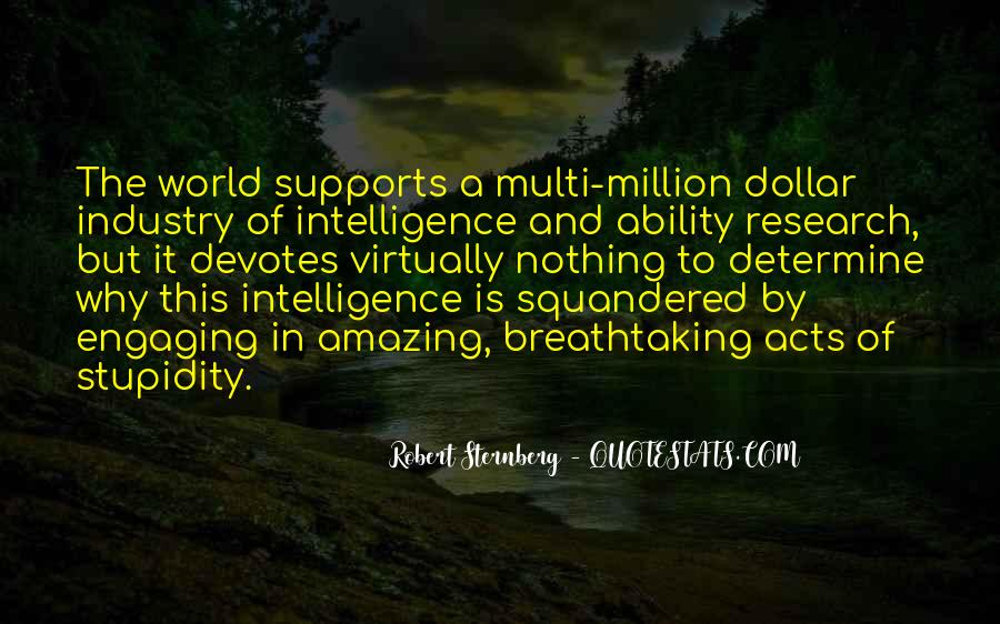 Quotes About Stupidity And Intelligence #1446602