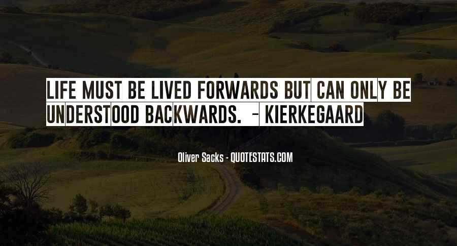 Quotes About Not Going Backwards In Life #345529