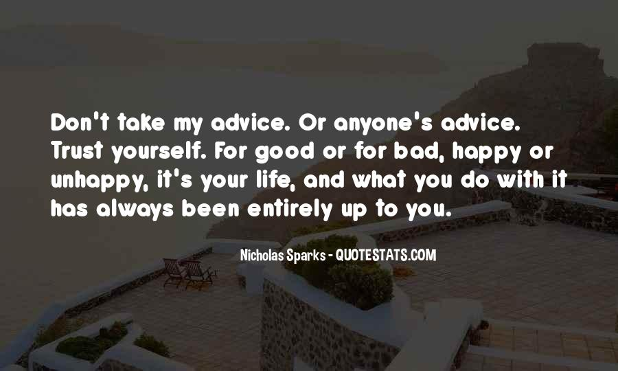 Quotes About Bad Advice #1289045