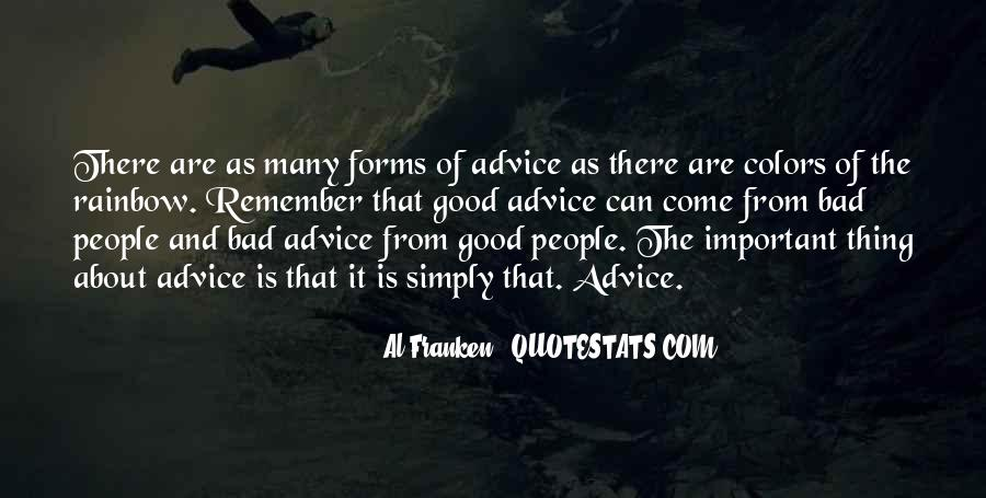 Quotes About Bad Advice #1398047