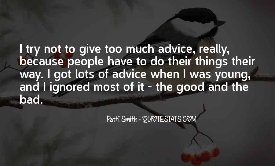 Quotes About Bad Advice #679417