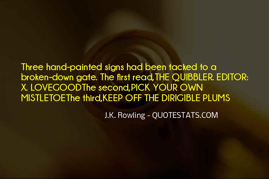 Quotes About Broken Hand #1510201